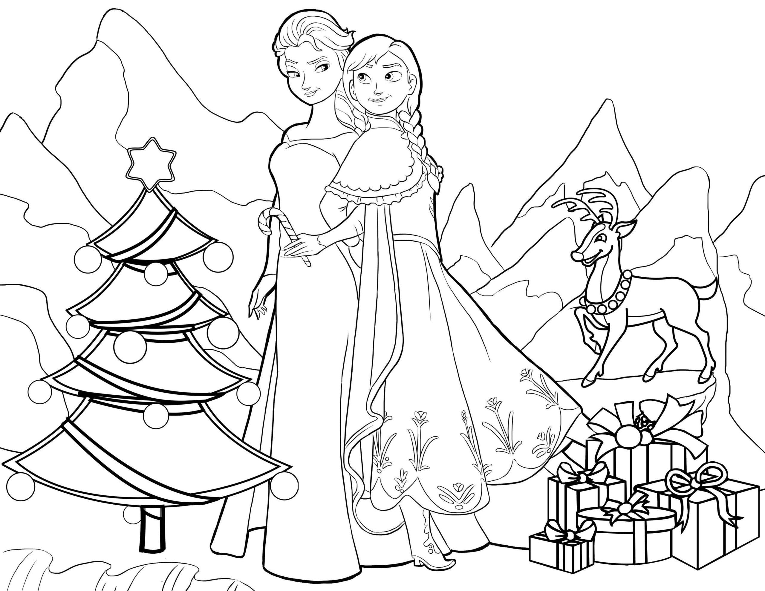 anna und elsa ausmalbilder weihnachten  pin auf