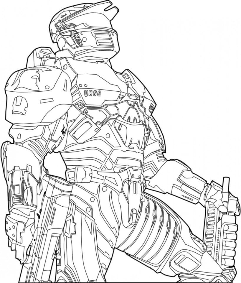 Halo Coloring Pages 100 Pictures Free Printable