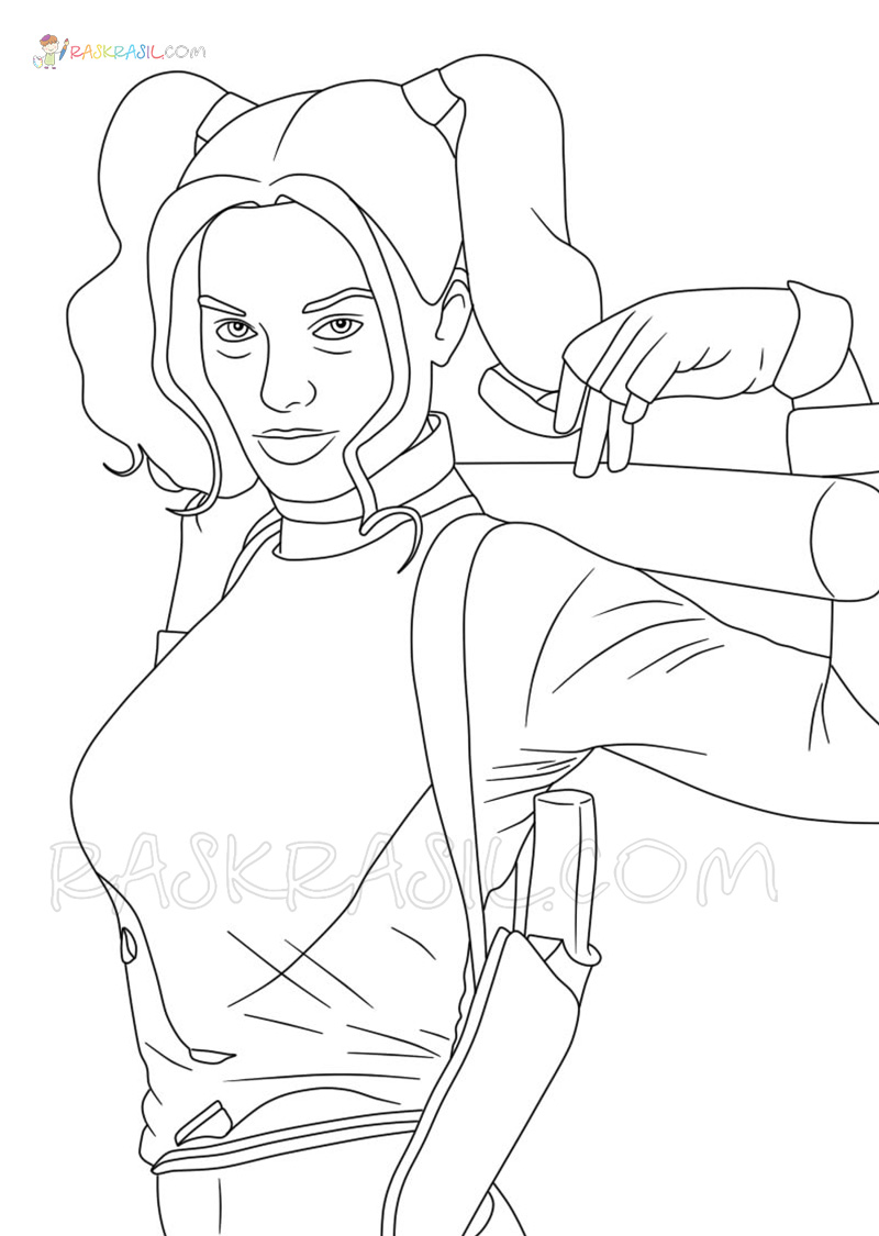 Harley Quinn Coloring Pages Print For Free The Best Images