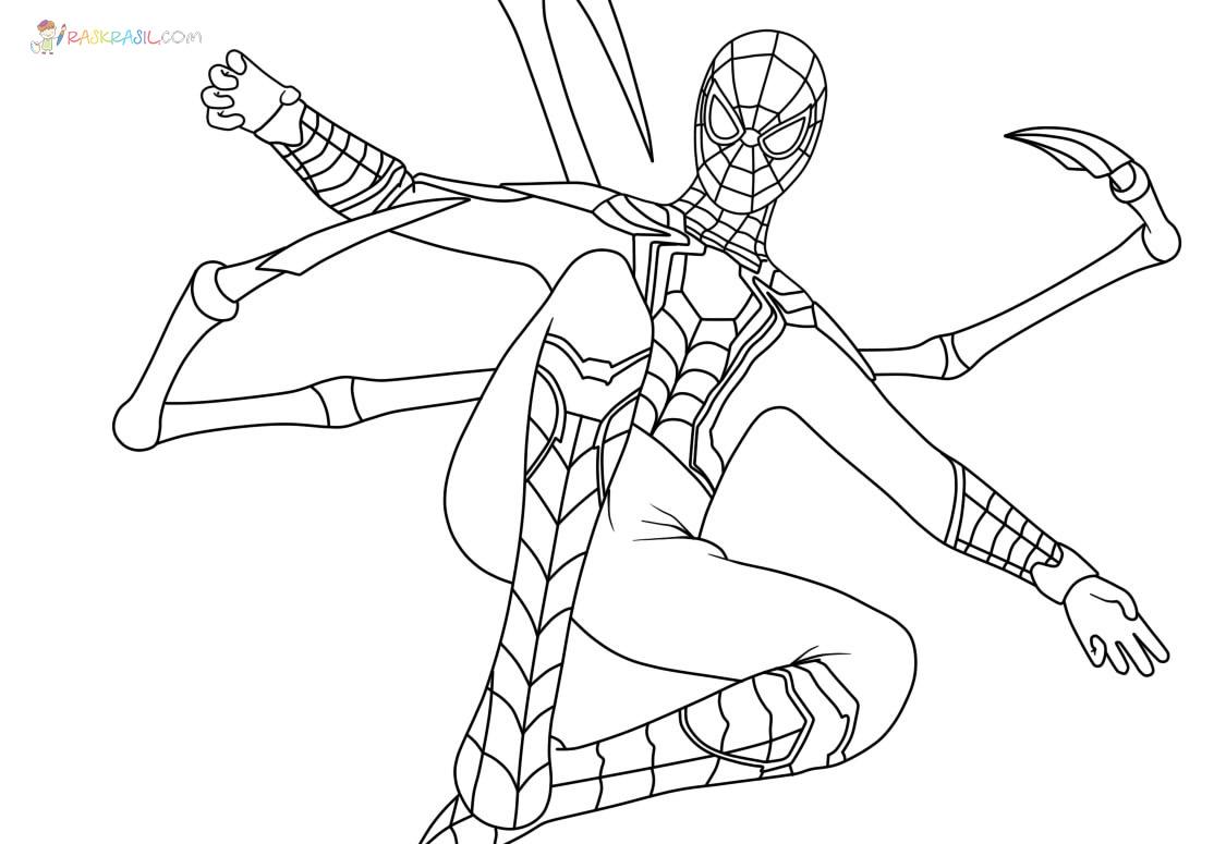 Ausmalbilder Iron Spiderman  Neue Malvorlagen zum Ausdrucken