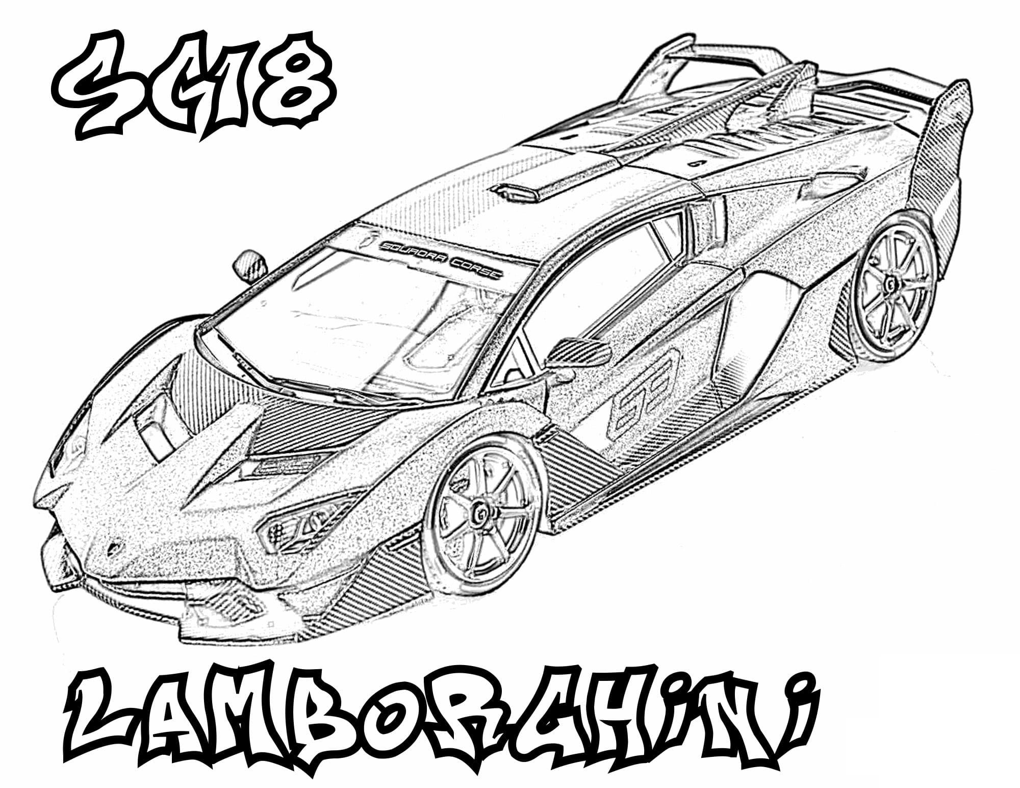 Ausmalbilder Lamborghini  18 Malvorlagen Kostenlos zum Ausdrucken