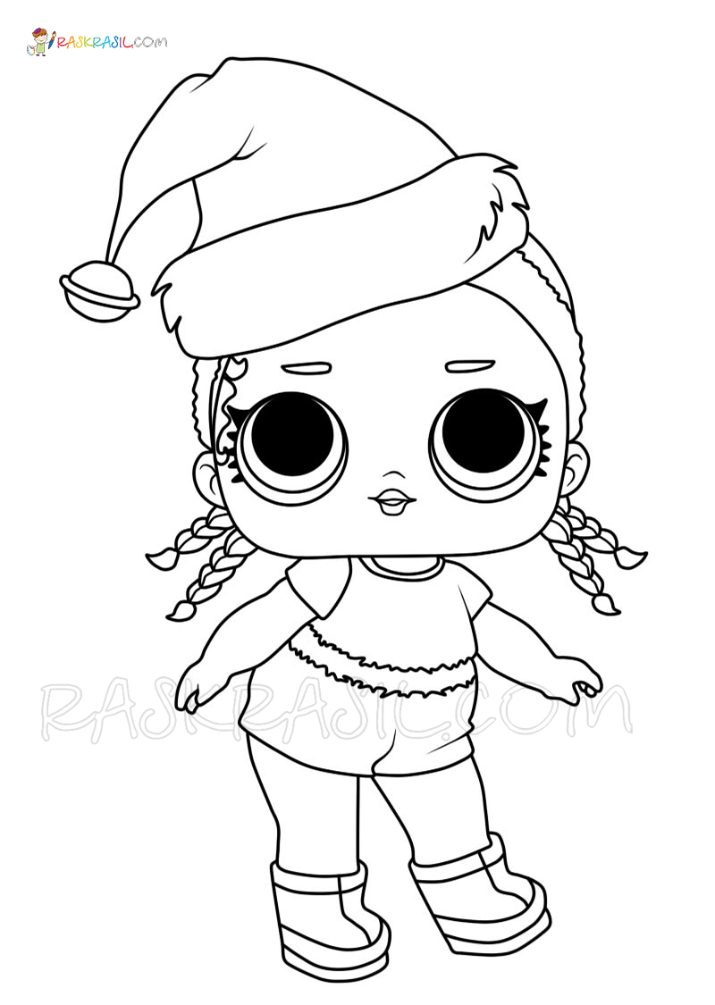Lol Christmas Coloring Pages Free Printable Of Christmas Dolls