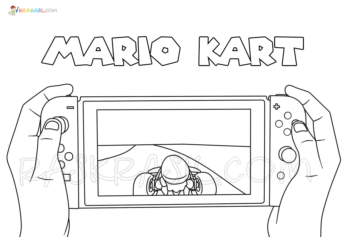 Mario Kart Coloring Pages 40 New Pictures Free Printable