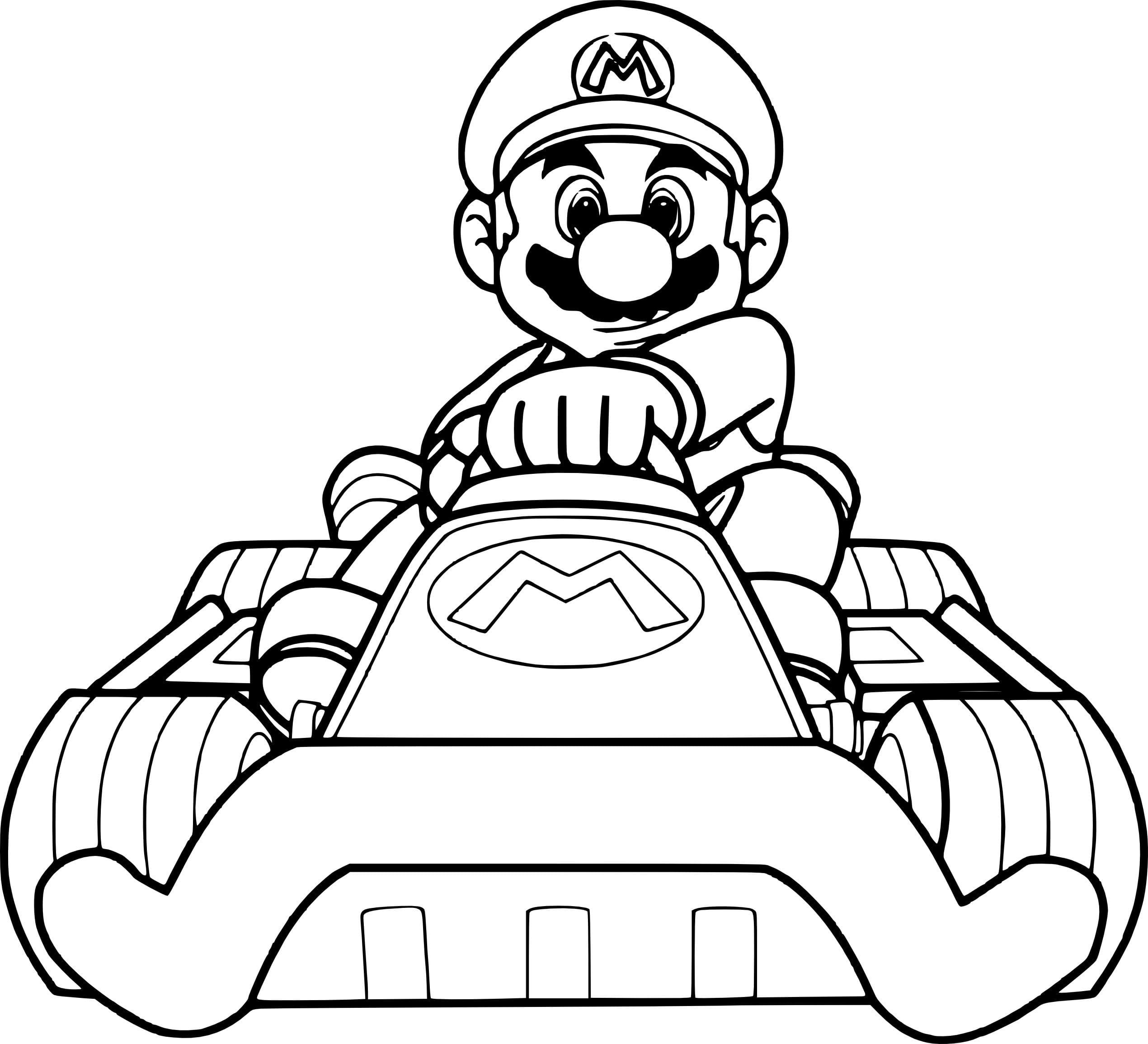 Ausmalbilder Mario Kart  22 Neue Malvorlagen Kostenlos zum Ausdrucken