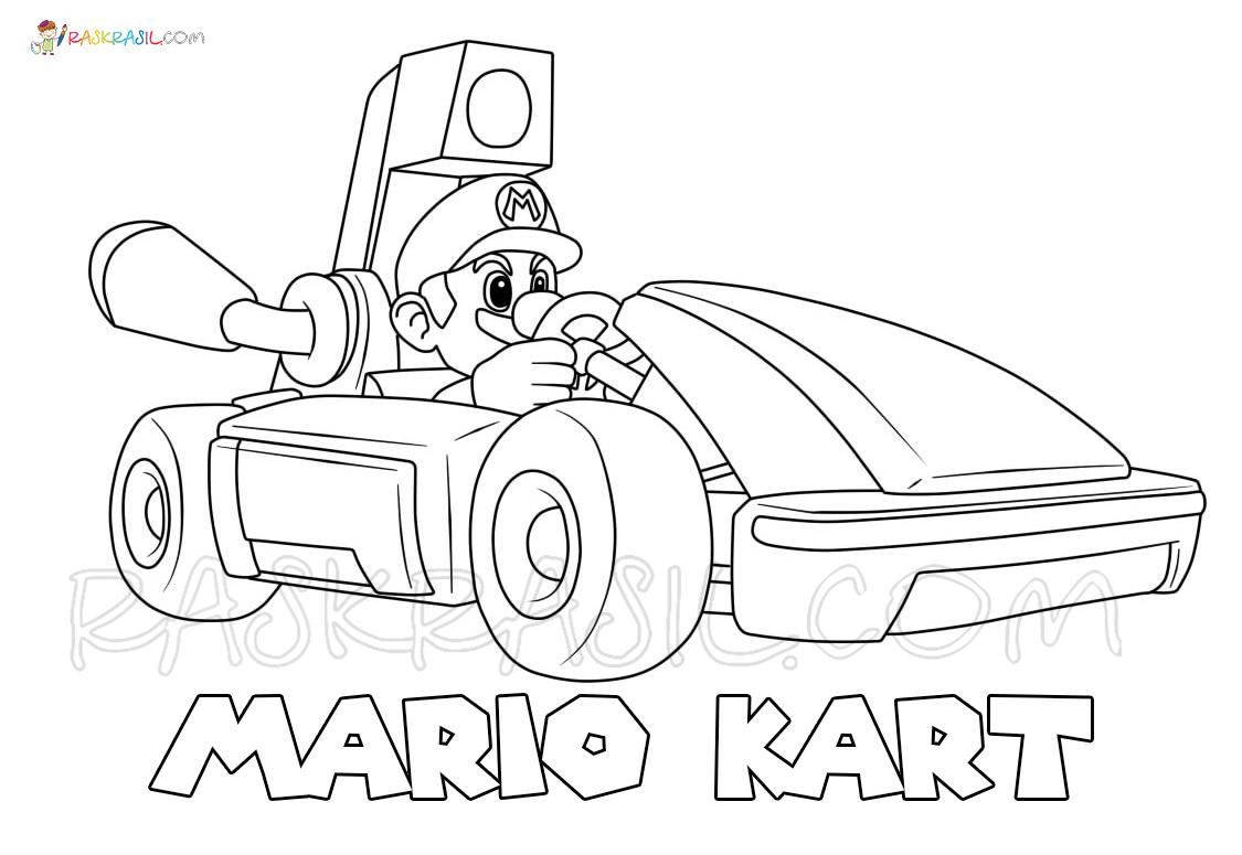 Раскраски Марио Карт - Распечатать бесплатно