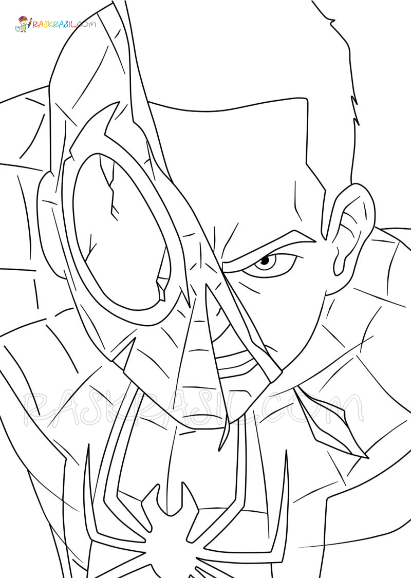 Miles Morales Coloring Pages Free Printable New Spider Man