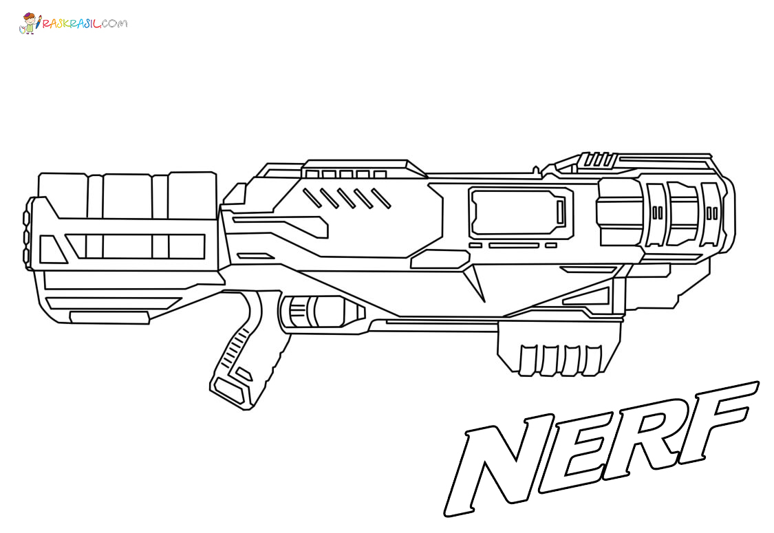 Nerf Gun Coloring Pages 40 New Images Free Printable