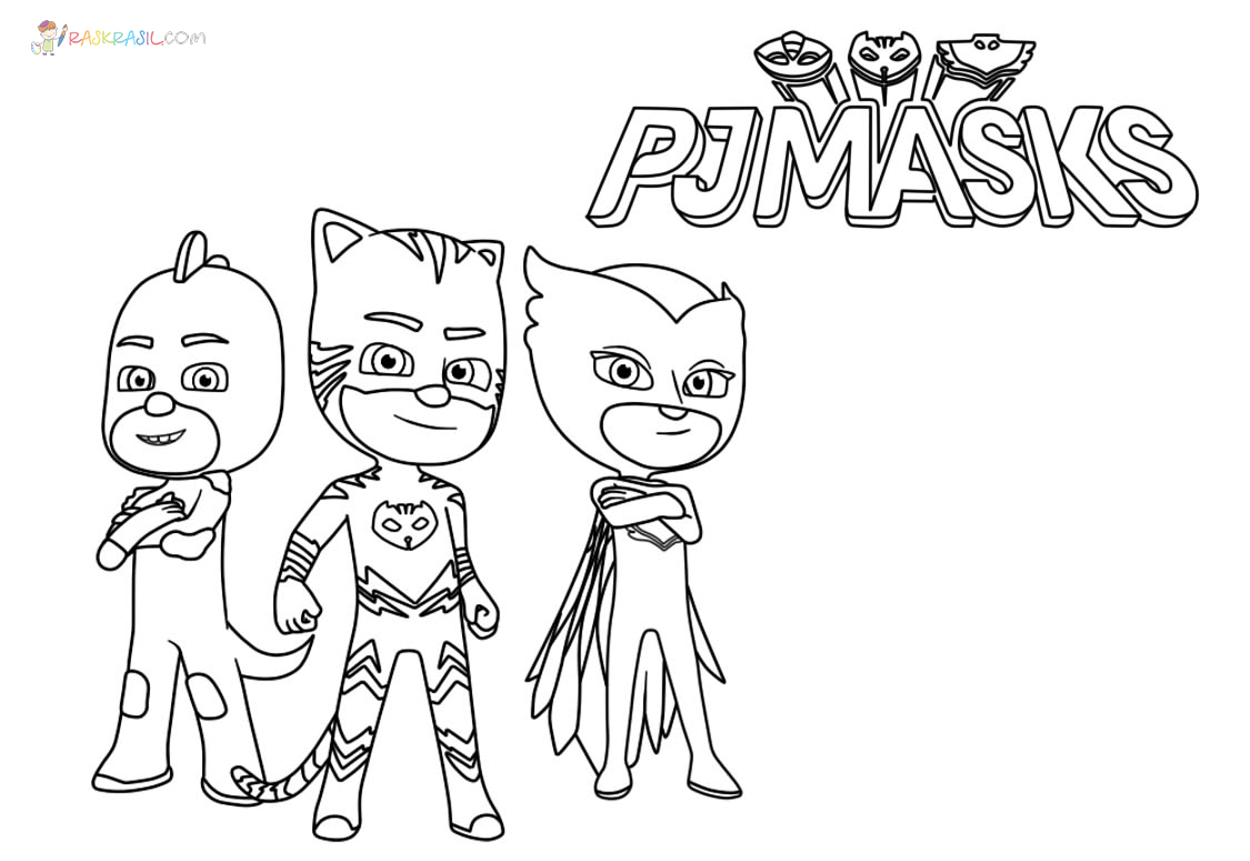 Ausmalbilder PJ Masks  11 Malvorlagen Pyjamahelden zum Ausdrucken