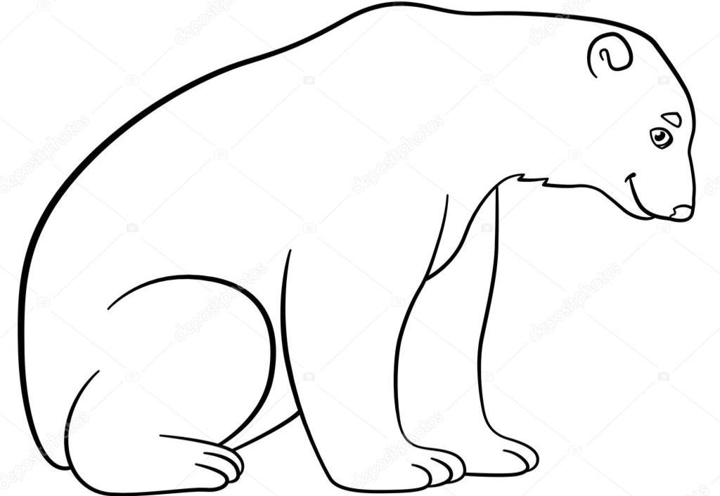 Раскраски Белый Медведь - Распечатать бесплатно
