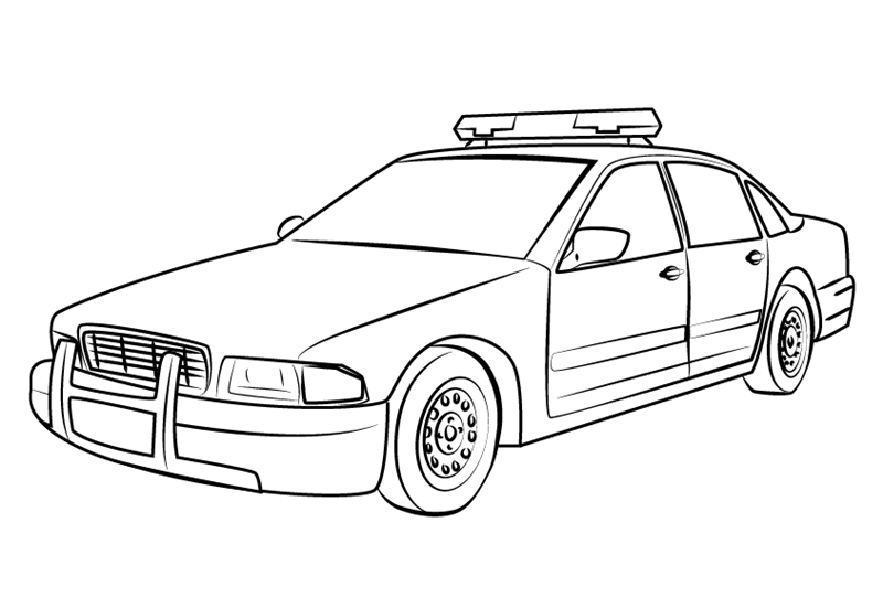 Police Car Coloring Pages | 40 images Free Printable