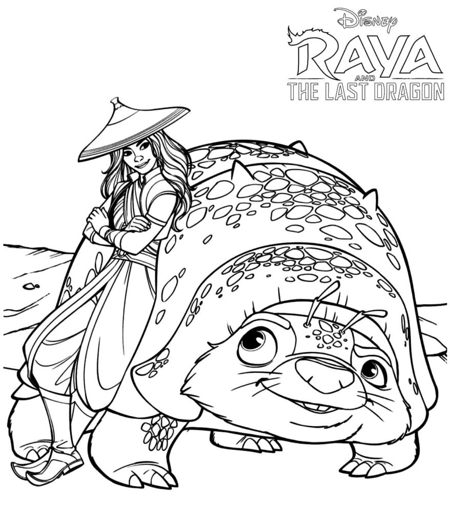 Raya And The Last Dragon Coloring Pages New Images Free Printable