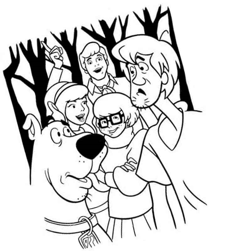 Scooby Doo Coloring Pages 100 Images Free Printable