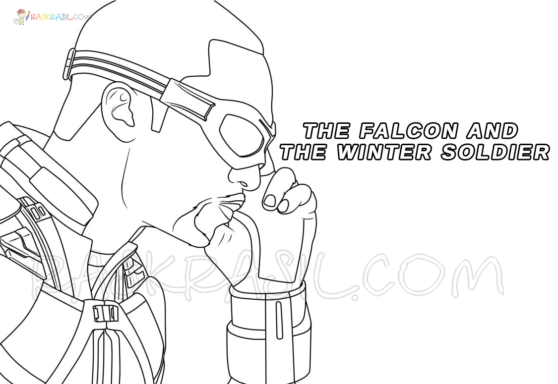 The Falcon And The Winter Soldier Coloring Pages Free Printable