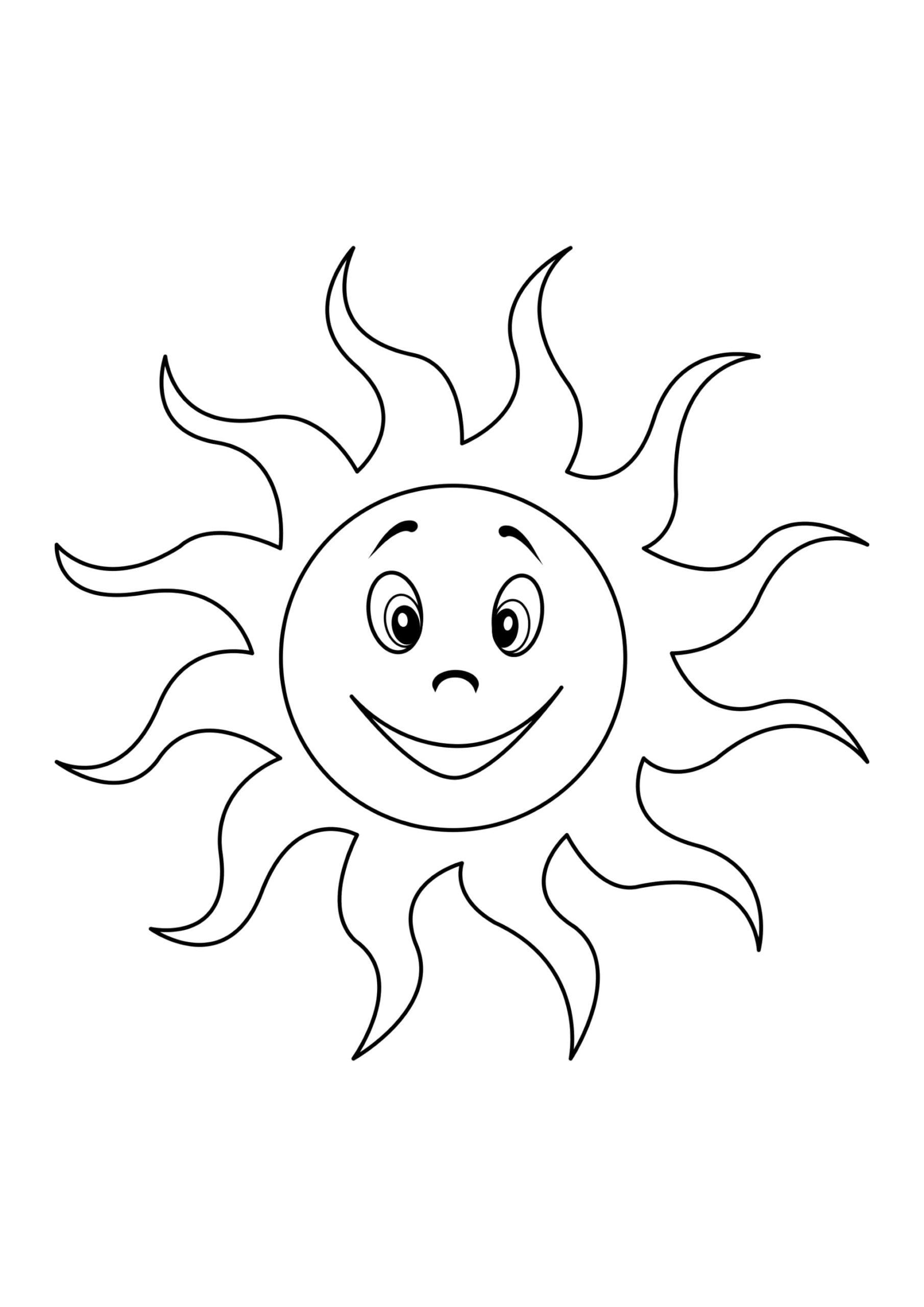 Ausmalbilder Sonne  8 Malvorlagen Kostenlos zum Ausdrucken