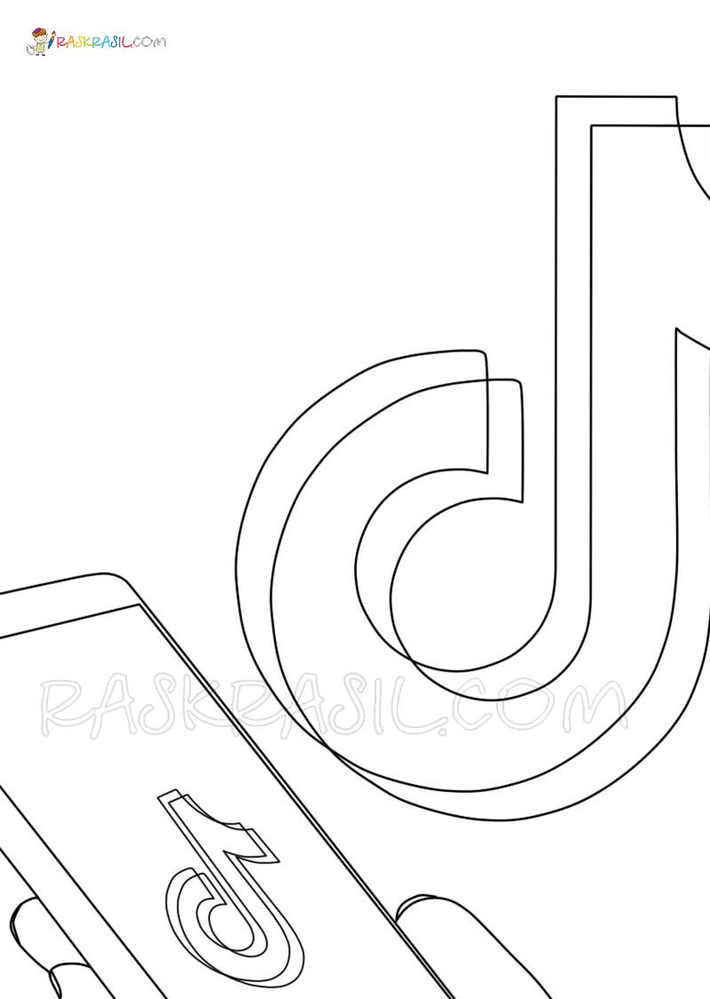 Dibujos De Tik Tok Para Colorear Imprime Gratis En Raskrasil Com