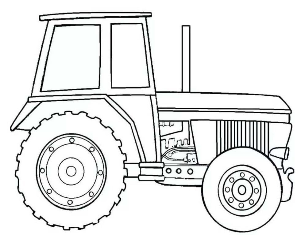 ausmalbilder traktor mit schaufel  malvorlagen vom