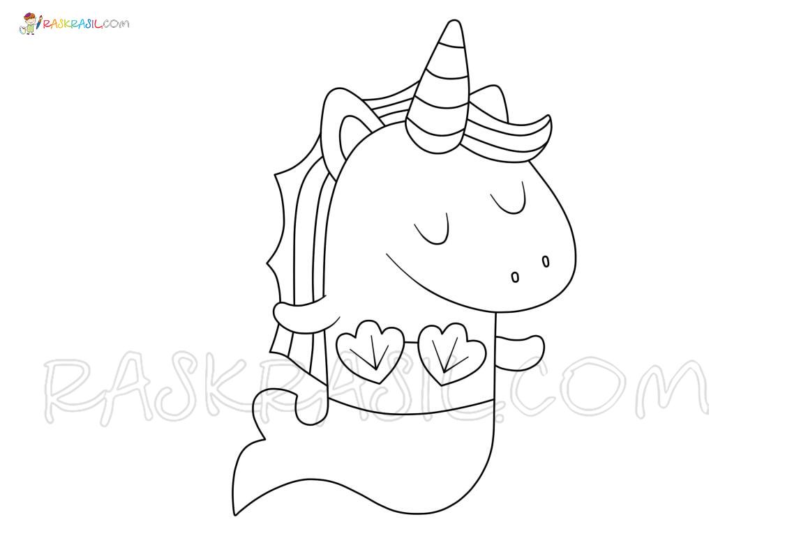 ausmalbilder meerjungfrau mit einhorn  coloring and drawing