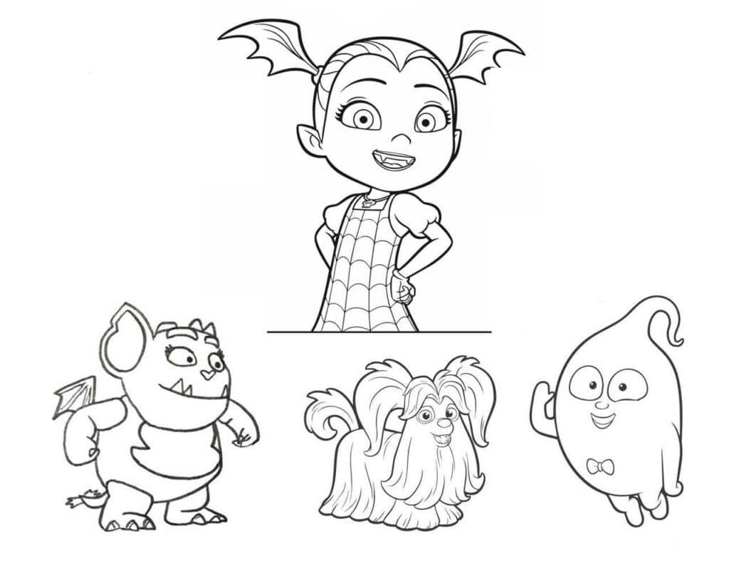 Vampirina Coloring Pages 100 Pictures Free Printable