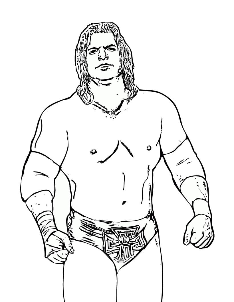 WWE Coloring Pages   10 Pictures of Wrestlers Free Printable