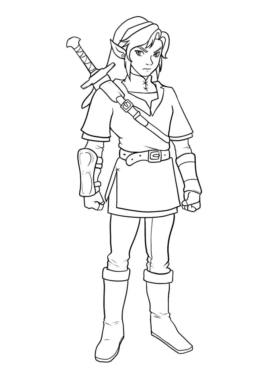 Ausmalbilder Zelda  5 Malvorlagen Kostenlos zum Ausdrucken