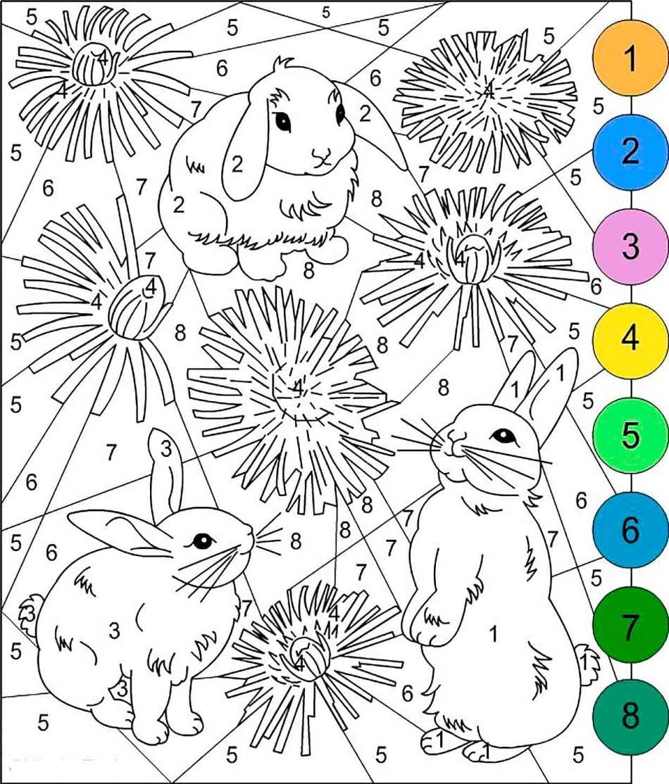 Color By Number. 100 Best Worksheets Coloring Pages Free Printable