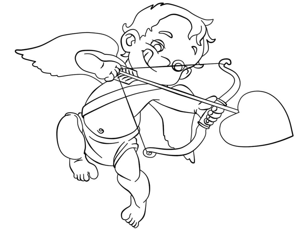 Cupid Coloring Pages 100 Images Free Printable