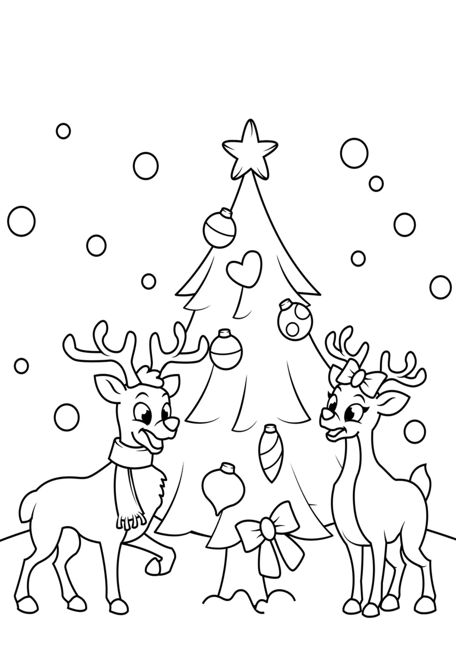 Disegni Da Colorare Gratis Di Natale.Renne Di Natale Disegni Da Colorare Stampa Gratuita Di 100 Immagini