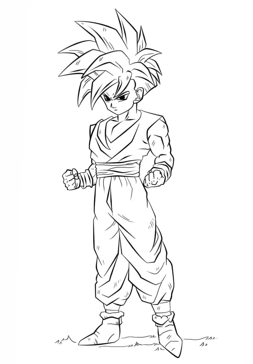 Dragon Ball Z Coloring Pages 100 Images Free Printable
