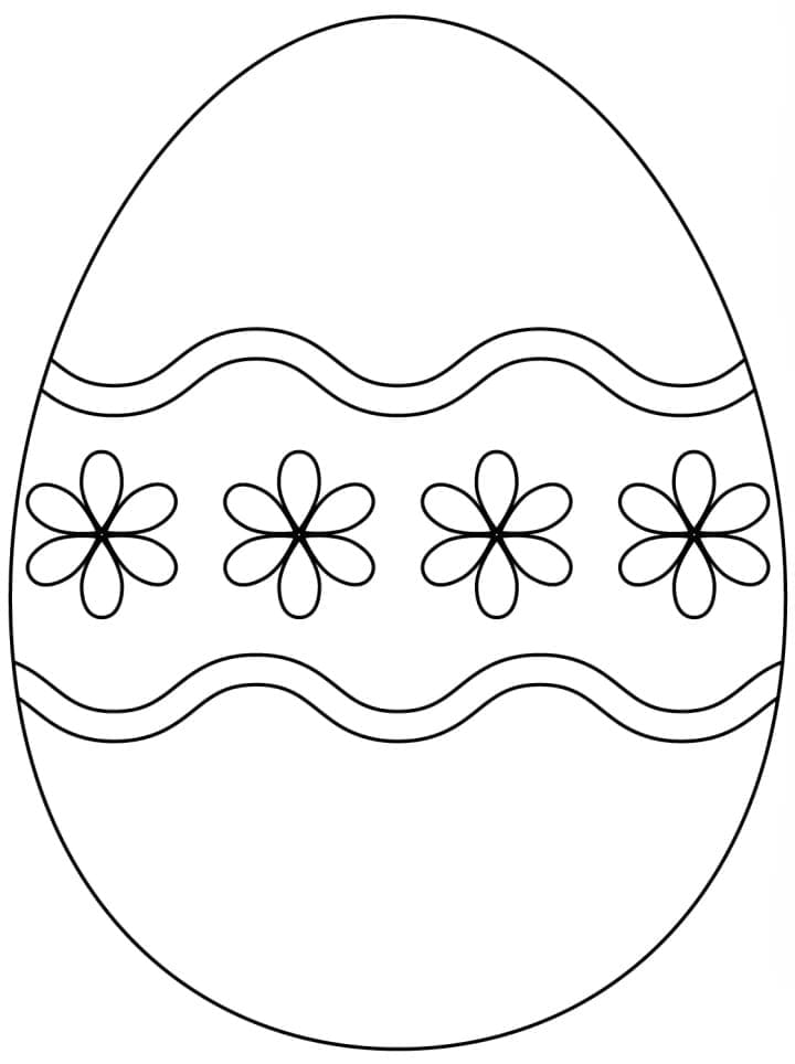 Easter Eggs Coloring Pages 100 Images Free Printable