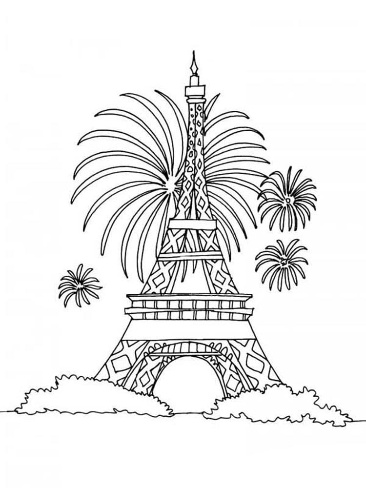 Eiffel Tower Coloring Pages 60 Pictures Free Printable