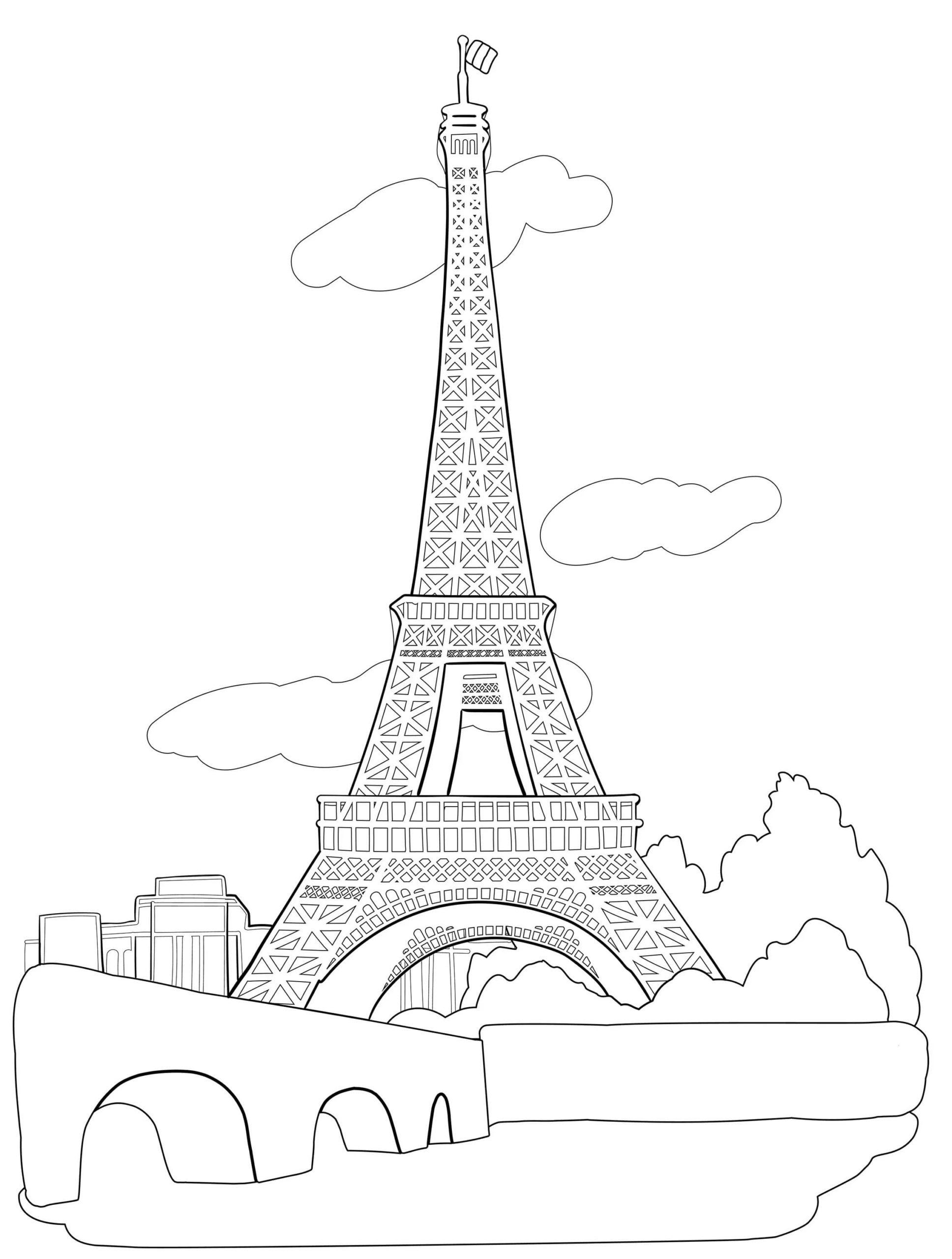Ausmalbilder Eiffelturm  27 Malvorlagen Kostenlos zum Ausdrucken