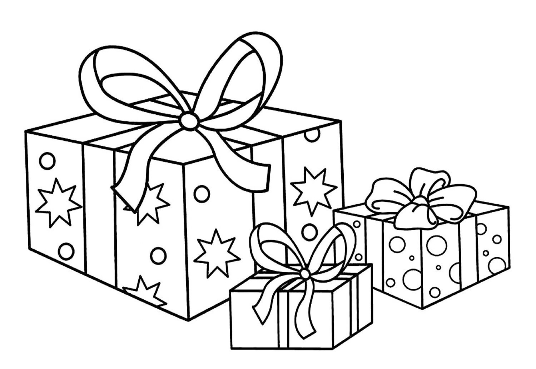 Раскраски Подарок - Распечатать бесплатно - 100 изображений