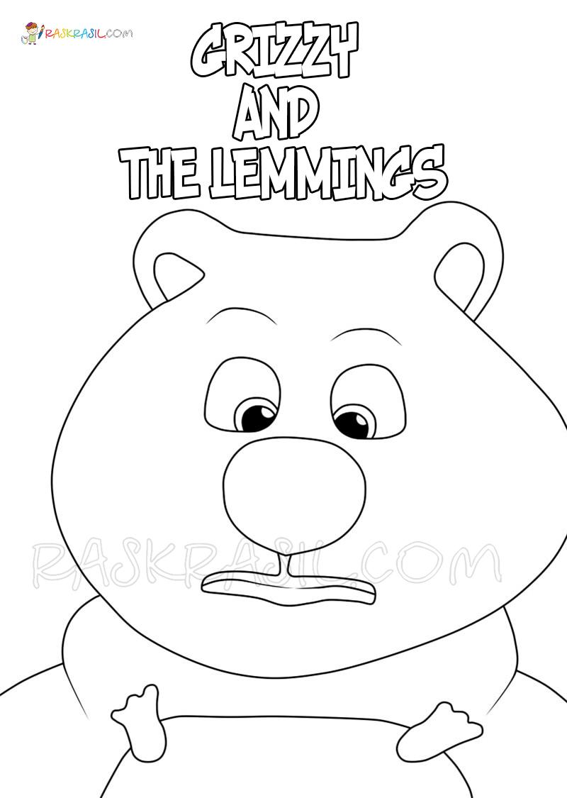 Ausmalbilder Grizzy und die Lemmings  Neue Malvorlagen zum Drucken