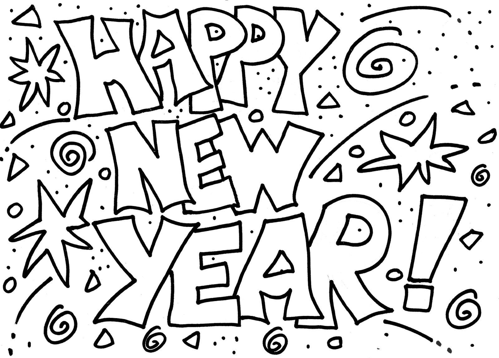 Happy New Year Coloring Pages 160 New Greeting Cards Coloring Pages