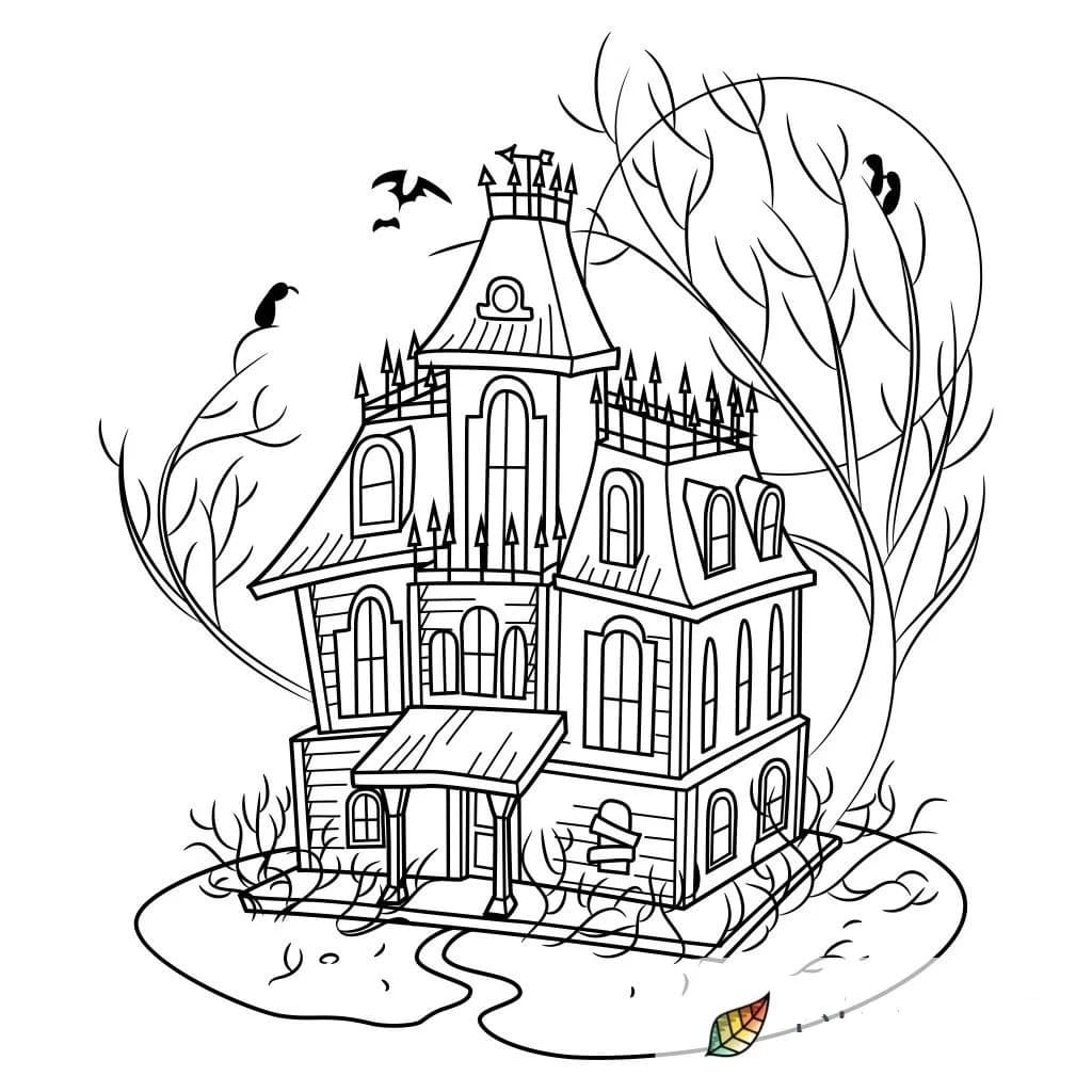 Haunted House Coloring Pages 60 Images Free Printable