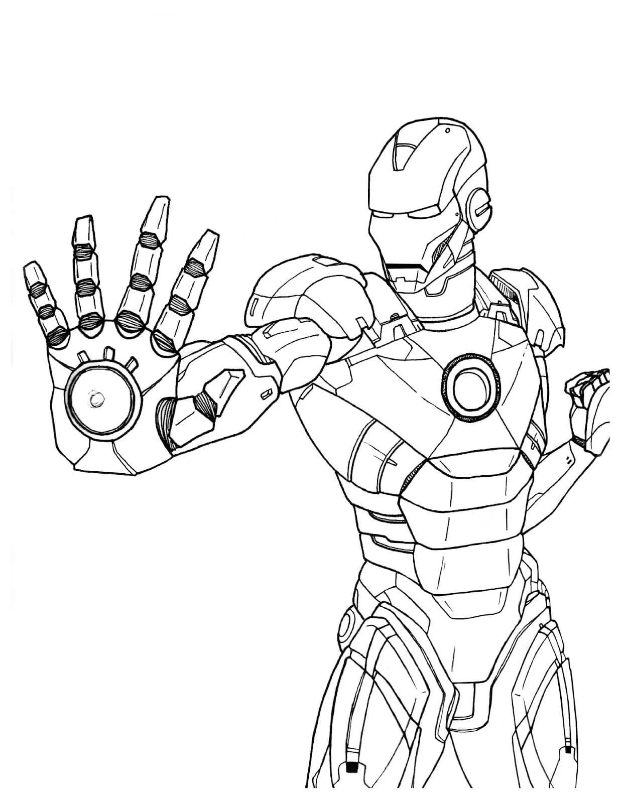 Ausmalbilder Iron Man  20 Malvorlagen zum Kostenlos Ausdrucken