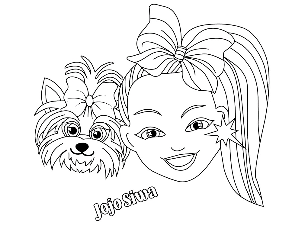 JoJo Siwa Coloring Pages. 18 New Images Free Printable