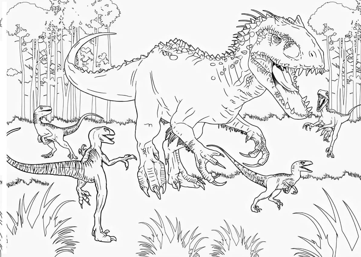 Ausmalbilder Jurassic World  21 Malvorlagen zum kostenlosen Drucken