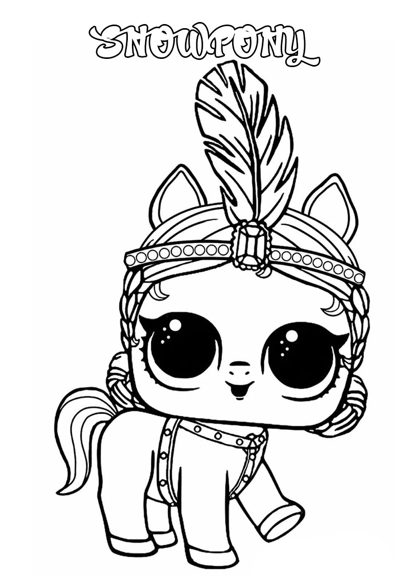 Lol Surprise Dolls Coloring Pages Print Them For Free All The Series