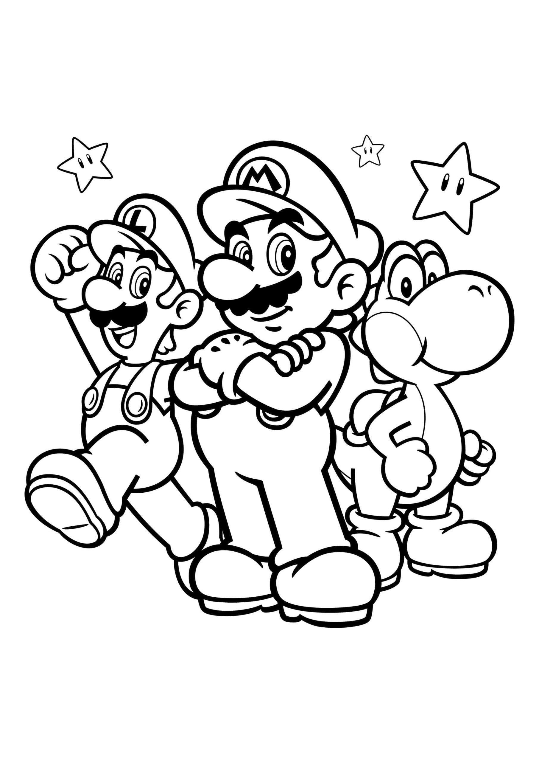 Ausmalbilder Luigi  23 Malvorlagen Kostenlos zum Drucken
