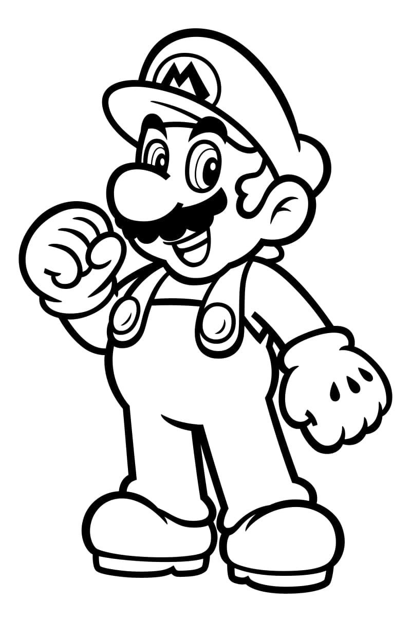 Mario Coloring Pages. 100 Best Images Free Printable