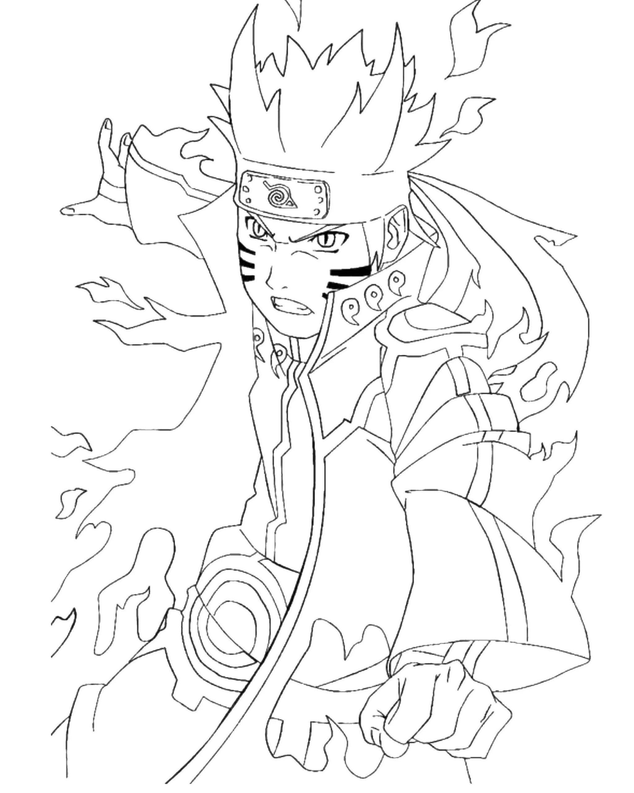 Ausmalbilder Naruto  20 Malvorlagen zum kostenlosen Drucken