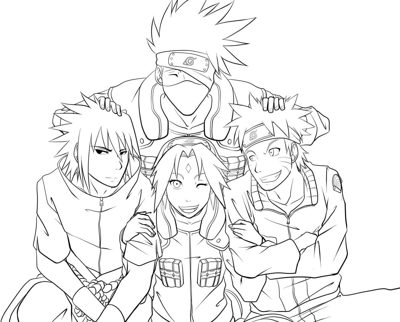 Ausmalbilder Naruto  8 Malvorlagen zum kostenlosen Drucken