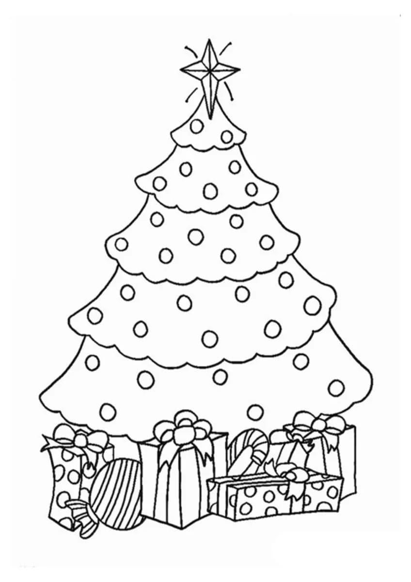 Albero Di Natale Disegno Da Colorare.Disegni Di Regali Di Natale Da Colorare 100 Immagini Da Stampare