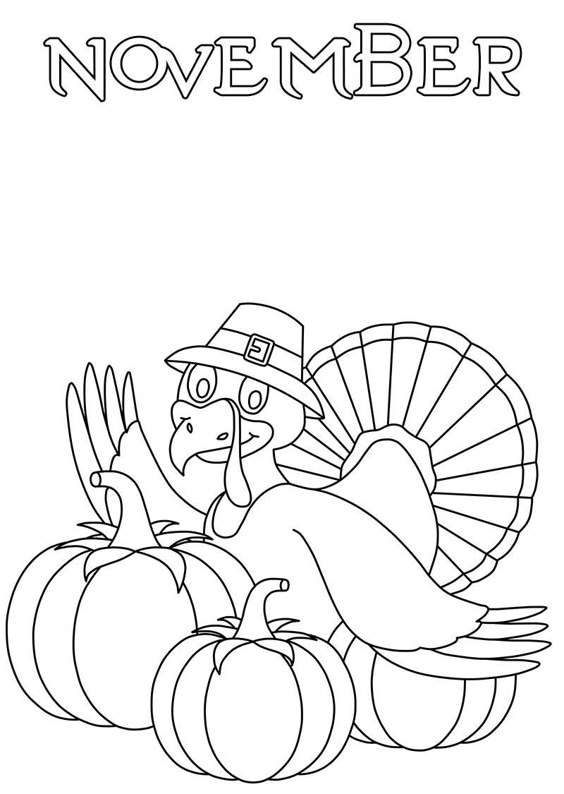 November Coloring Pages. 30 New Images Free Printable