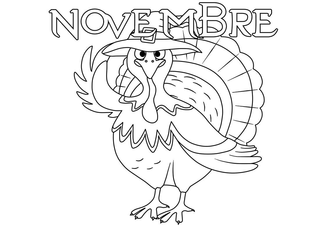 Disegni di Novembre da colorare. 20 immagini per la stampa gratuita
