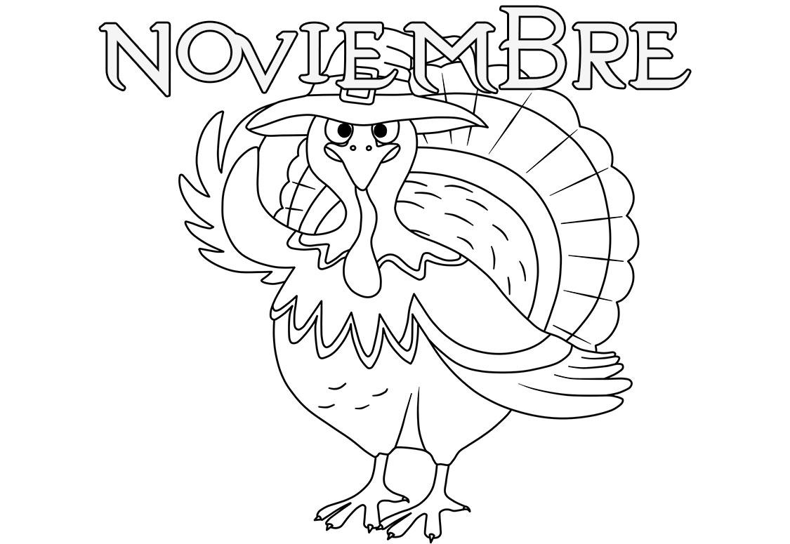 Dibujos de Noviembre para colorear. 22 imágenes para imprimir gratis