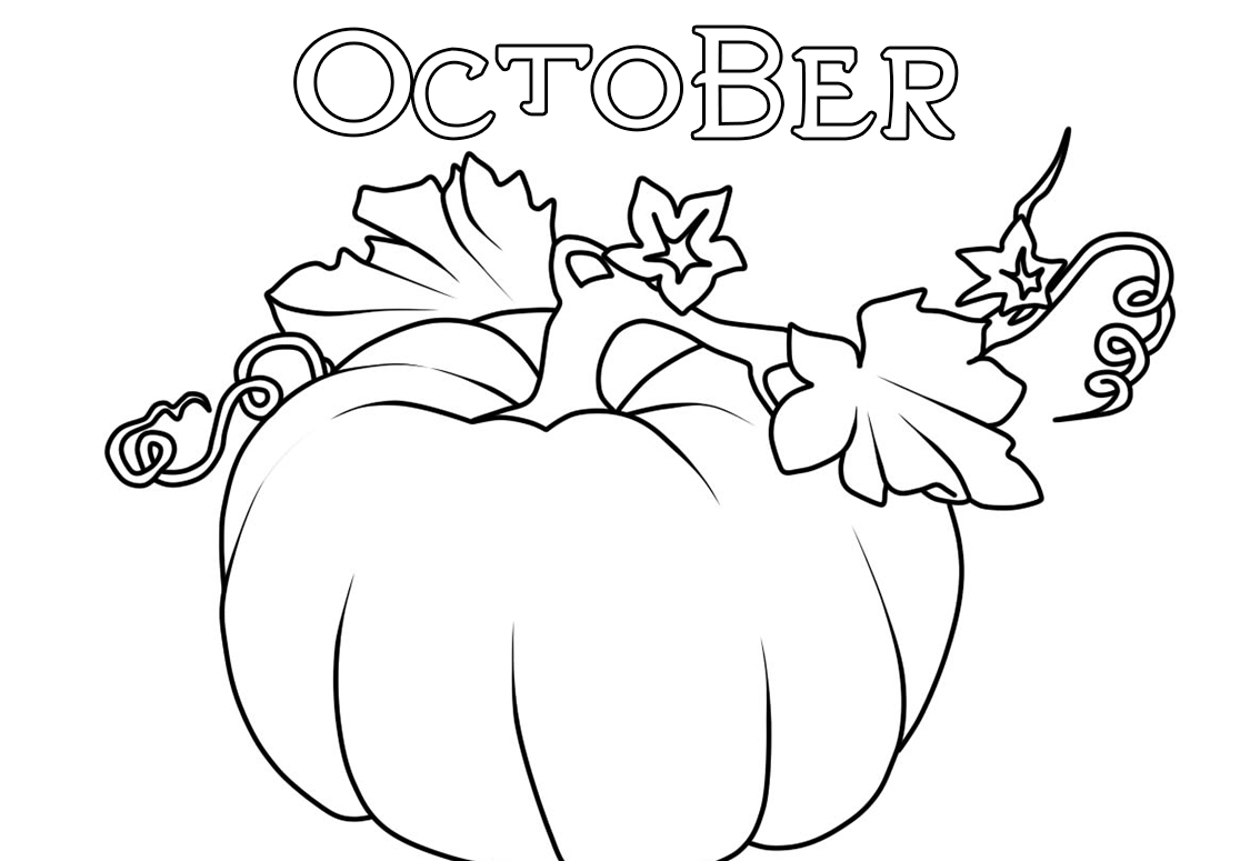 October Coloring Pages. 30 Images of Autumn Free Printable