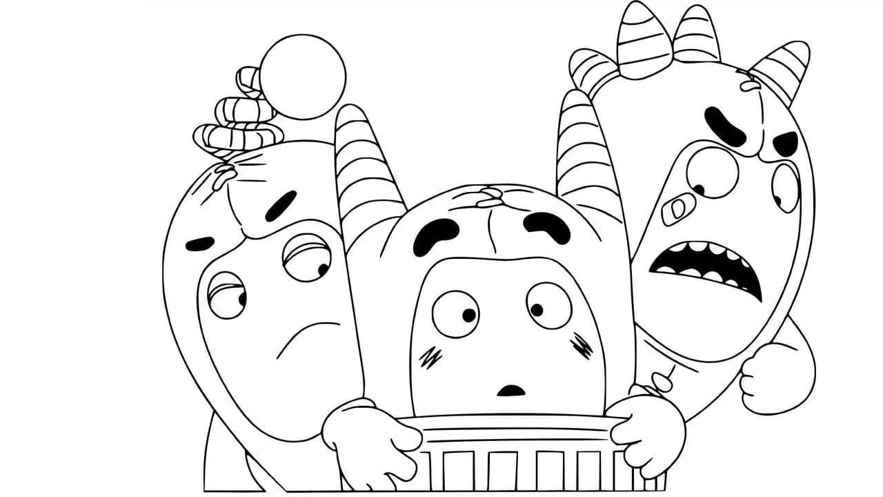 Drawings Of Oddbods : Disegno Di Zee Degli Oddbods Da ...