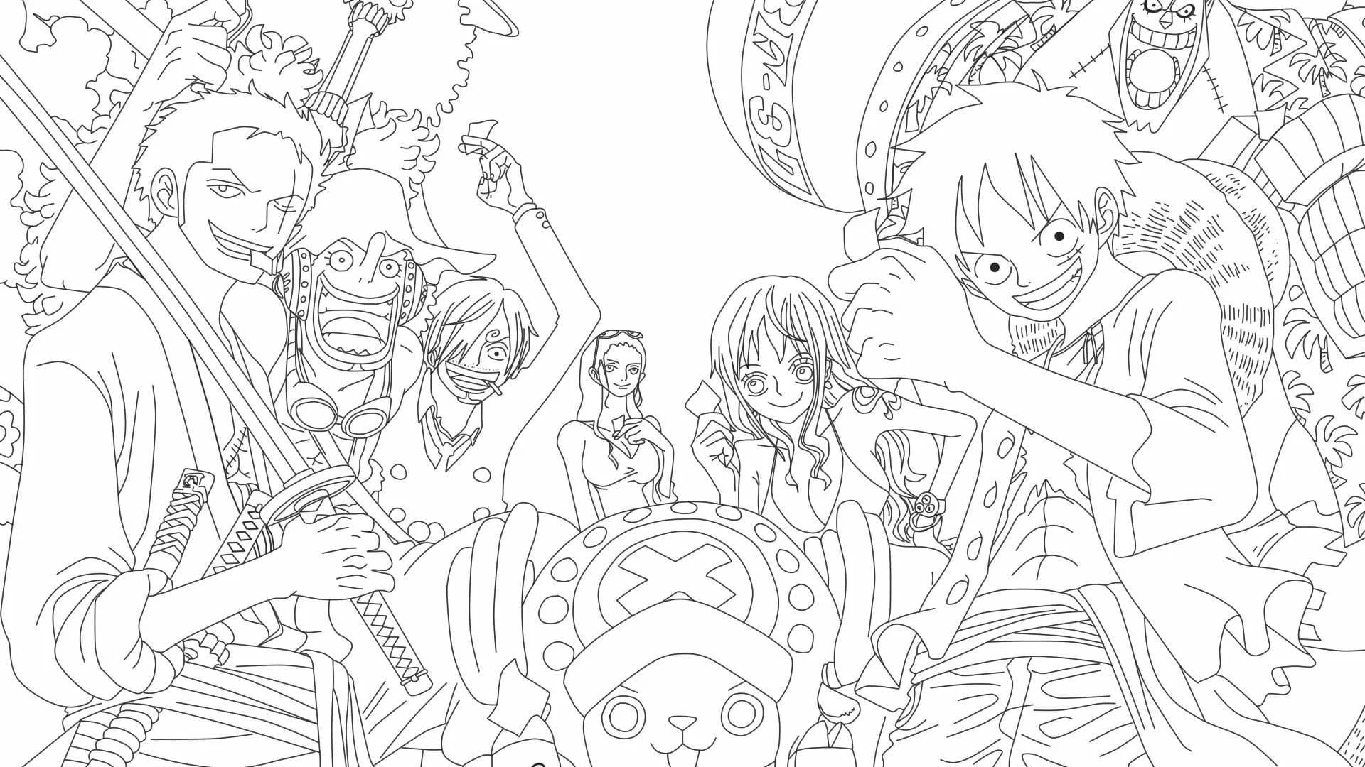 Disegni Di One Piece Da Colorare 90 Immagini Per La Stampa Gratuita